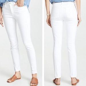 "MADEWELL High Riser Skinny Jeans White 9"" Rise 24"